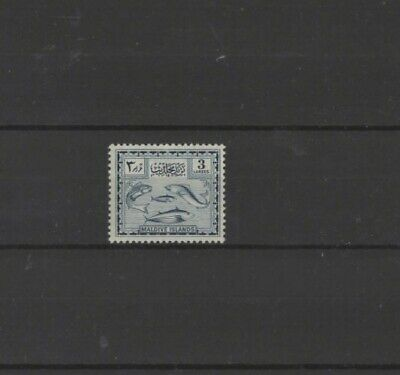 Maldive Islands , 1952, Sg30 Type 8 3L Blue, Mnh + Gum