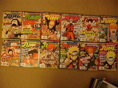 12 x Shonen Jump magazines from 2010 - Issues 1-12 - full year
