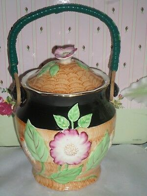 Vintage Weatherby Hanley Durability Royal Falcon Ware Biscuit Barrel
