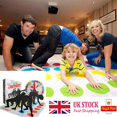 Funny-Twister The Classic Family Kids  Party Body Game-With 2 More Moves HOT UK*