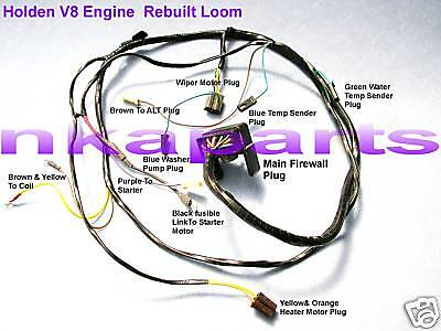 holden hq hj v8 308 253 gts ss engine wiring loom harness looms
