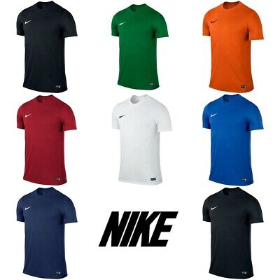 Nike Park VI Boys T Shirts Football Kids Top Sports Training Jersey S M L XL