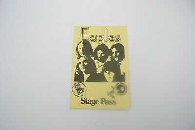 1970's THE EAGLES Back Stage Pass - Concert Productions International NOS
