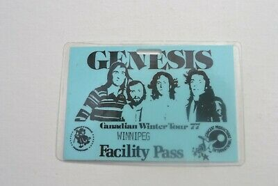 1977 GENESIS Laminated Facility  Pass - Concert Productions Int. NOS