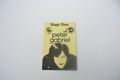 1970's PETER GABRIEL Back Stage Pass - Concert Productions Int. NOS