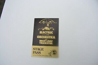 1978 ELO Meat Loaf & Trickster Back Stage Pass - Concert Productions Int. NOS