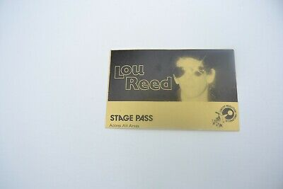 1970's LOU REED Stage Pass - Concert Productions International NOS