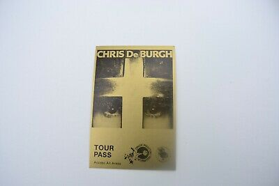 1970's Chris DeBurgh Tour Pass - Concert Productions International NOS