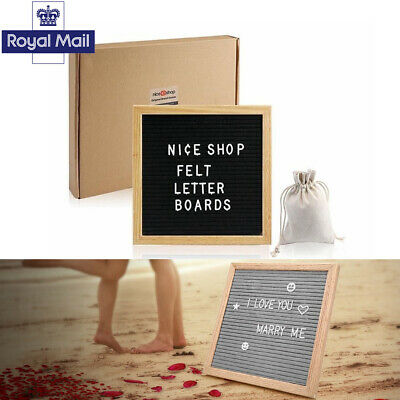 """10X10"""" UK CHANGEABLE Felt Letter Message Board with 340 White"""