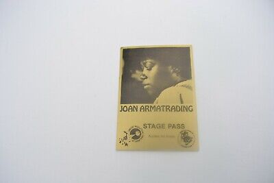 1970's JOAN ARMATRADING Back Stage Pass - Concert Prod. Int'l. NOS