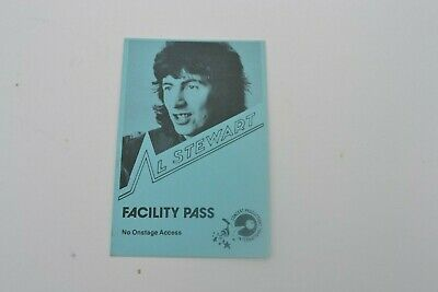 1970's AL STEWART Facility Pass - Concert Productions International NOS