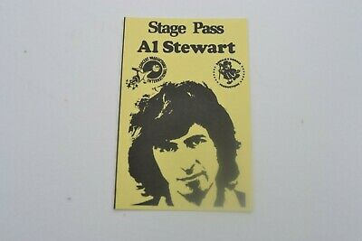 1970's AL STEWART Stage Pass - Concert Productions International NOS