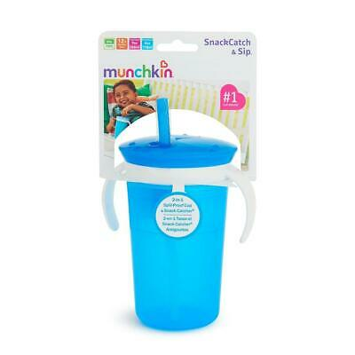 SnackCatch & Sip 2-in-1 Snack Catcher and Spill-Proof Cup - Blue
