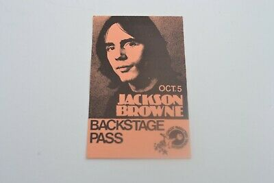 1970's JACKSON BROWNE Back Stage Pass - Concert Productions International NOS