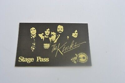 1970's The Kinks Stage Pass - Concert Productions International NOS