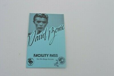 1970's David Bowie Facility Pass - Donald K. Donald Productions -  NOS