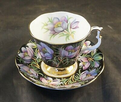 Royal Albert  Cup  & Saucer PRAIRIE CROCUS from Provincial Flowers Series