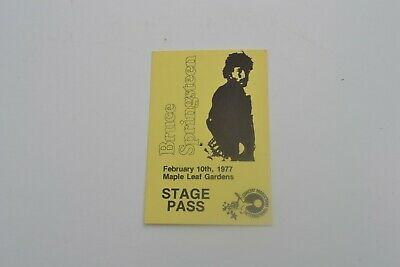 1977 Bruce Springsteen Stage Pass - Concert Productions International NOS