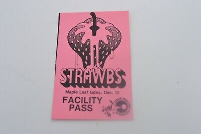 1970's Strawbs Stage Pass - Concert Prod. Int'l NOS