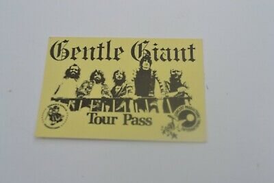 1970's Gentle Giant Tour Pass - Concert Productions International NOS