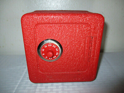 Vintage Red Superior Toy Mfg. Co. Combination Lock Coin Bank