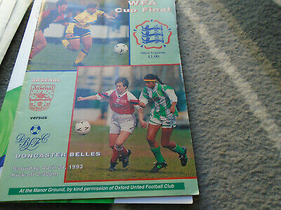 @ Oxford United Fc....arsenal V Doncaster Belles 1993 Wfa Cup Final