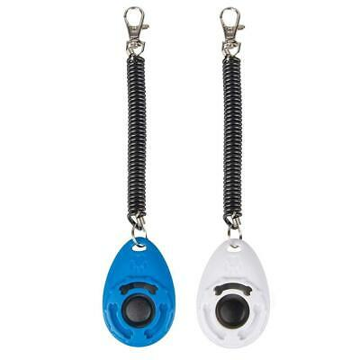 1/4Pcs Pet Cat Dog Training Button Clicker With Wrist Strap AAF