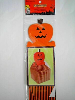 PACKAGE OF 4 SHAPED HALLOWEEN CELLO TREAT BOXES ~ You Choose