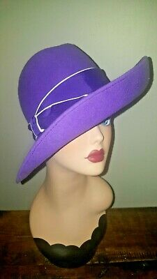 ef73dec294336 TRUE VINTAGE 1960s FEDORA TRILBY GOODWOOD OCCASION HAT LILAC PURPLE