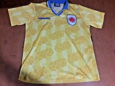 c5136e8ff UMBRO COLOMBIA FOOTBALL Shirt Size L Used 1994 World Cup Escobar ...