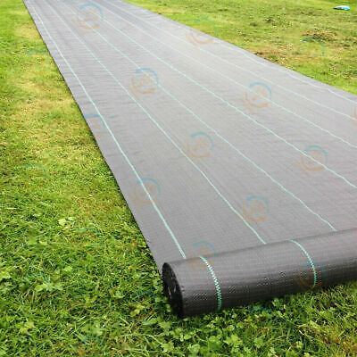 2X 3X Weed Suppressant Landscape Fabric Weed Barrier Control Membrane Garden