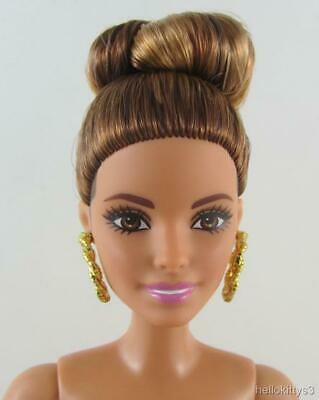 Nude Latina Barbie Emerald Check Fashionistas Original Body Hispanic Earrings