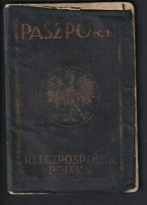 Passport - Poland Issued Warsaw? 1936 to Migrant to Argentina