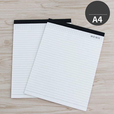 Smooth A4 Notes Pads Legal Pad Ruled Margin Sheets Writing Lined Paper 100 Page