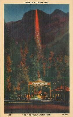 Camp Curry, Fire Fall, Yosemite National Park, California