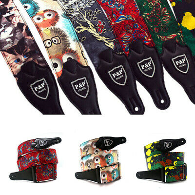 Adjustable Guitar Accessories High Quality Print Cool Band Wide Shoulder Straps