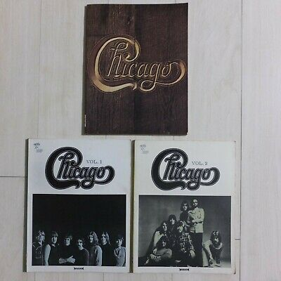 Set of 3, CHICAGO Sheet Music Band Score '70s Vintage Book Nichion Japan