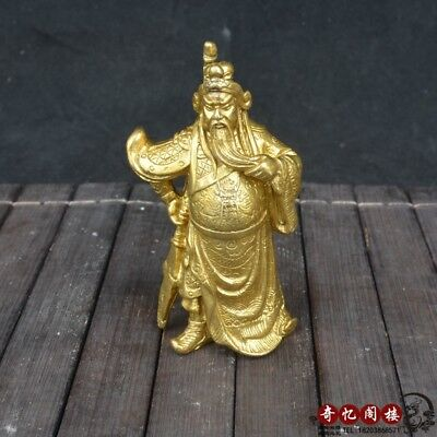 Chinese old feng shui decorate bronze guan gong