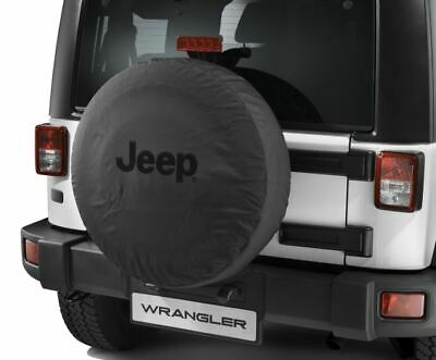 Mopar ® Jeep ® Wrangler Spare Wheel Tyre Cover Black Denim 255/75R17 255/70R18