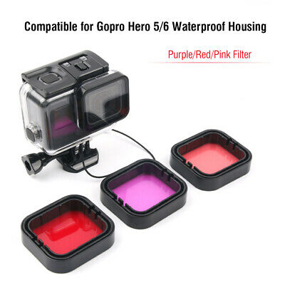3pc Diving Filter Underwater Red Magenta Snorkel Color Filters for GoPro HERO5 6