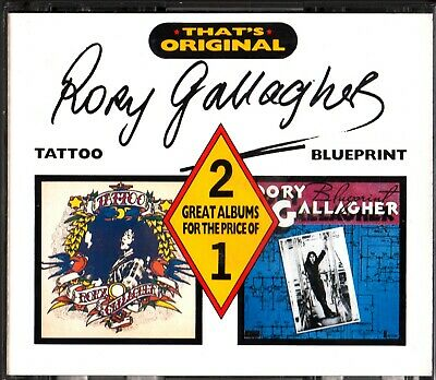 RORY GALLAGHER: 2 LP Albums On 2-CD (Tattoo & Blueprint) RARE (2on1) Castle