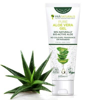 PraNaturals Pure Aloe Vera Gel 200ml VEGAN, Pack of 1