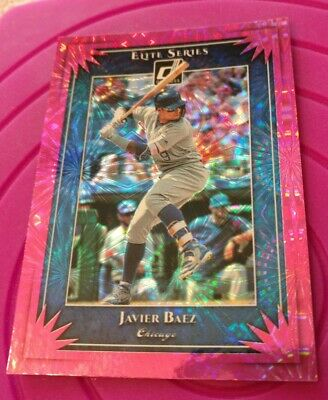 2019 Javier Baez Donruss Elite Series Pink Refractor #ES6 Chicago Cubs