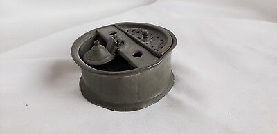 Unusual antique pewter French inkwell?, marked