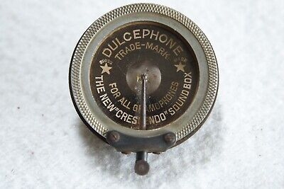 Vintage Dulcephone Crescendo Sound Box For 78 Rpm Wind-Up Gramophones