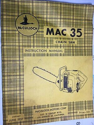 MCCULLOCH 1965 FULL COLOR Sales Brochure Catalog Chain Saw