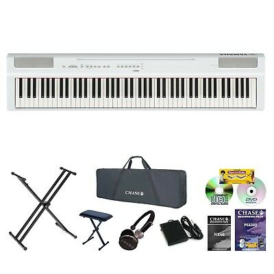 Yamaha P-125 Digital Portable Stage Piano P-Series 88 Note Hammer Action Bundle