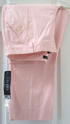 NEW TAG! LAUREN by RALPH LAUREN 10 MEDIUM PINK CHINO CARGO CROPPED PANTS $89.50