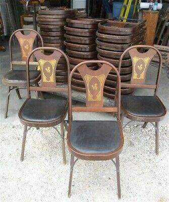 35 Wood Folding Chairs Church Funeral Home Wedding Concert Patio Picnic