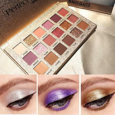 New Nude Matte & Shimmer Eyeshadow Palette Eye Shadows 18 Colors Makeup Cosmetic